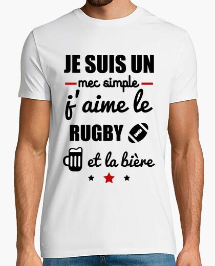 Tee-shirt Mec simple rugby,bière