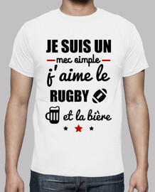 Mec simple rugby,bière