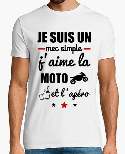 Tee apéro moto Motard Shirt Mec t Simple b6fg7vYy