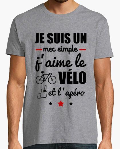 Tee-shirt Mec simple,vélo,apéro