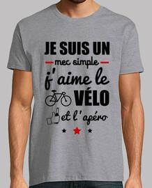 Mec simple,vélo,apéro