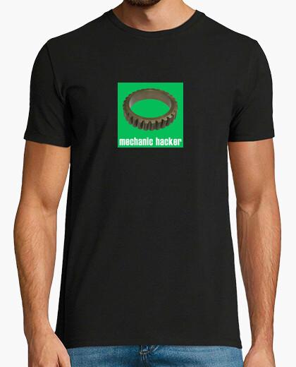 Camiseta Mechanic hacker green