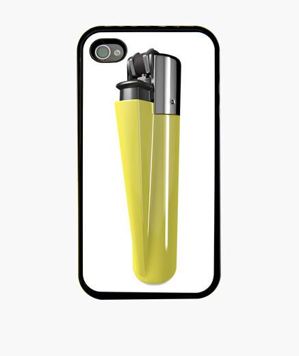 Funda iPhone Mechero amarillo