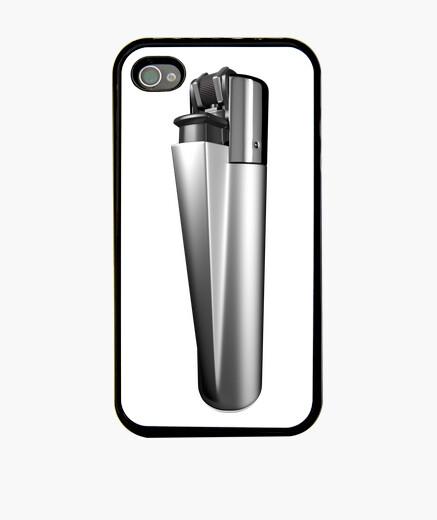 Funda iPhone Mechero plata