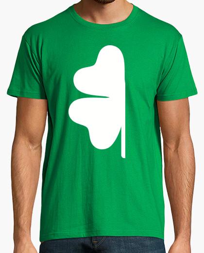 Camiseta medio trébol verde