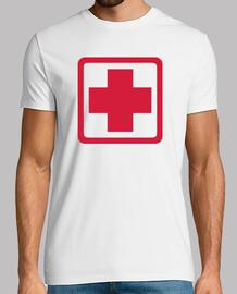 medizinisches rotes kreuz