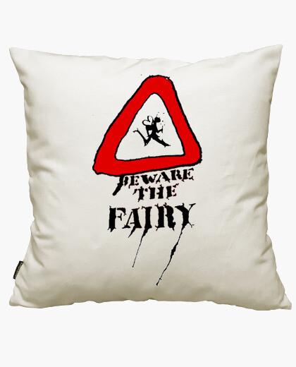 Housse de coussin méfiez-vous la fairy 2