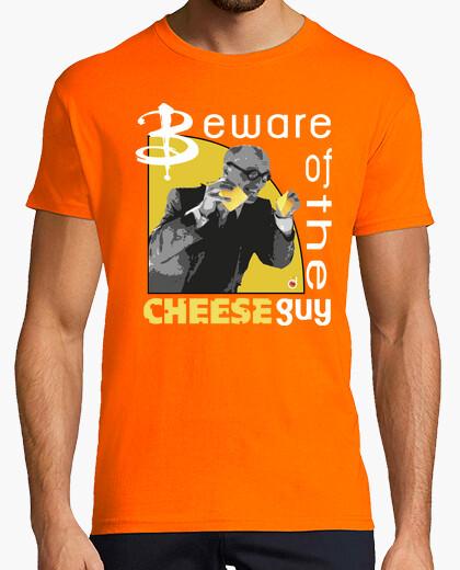 Tee-shirt méfiez-vous le  homme  de fromage (garçon et  femme  t)