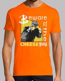 méfiez-vous le  homme  de fromage (garçon et  femme  t)