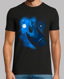 Megalodon mordiendo la luna