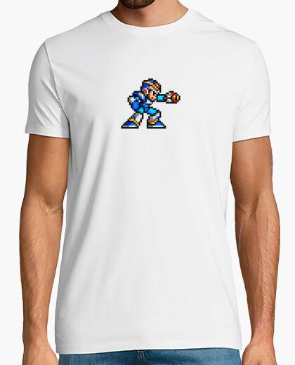 Megaman Pixel–Camiseta para hombre, color azul