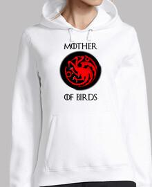 mère d'oiseaux (à capuchon)