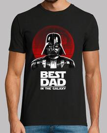 meilleur papa dans la mens galaxie de chemise