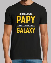 Meilleur papy de la galaxy cadeau humou