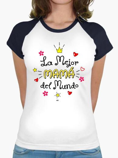Tee-shirt Meilleure maman du monde - Anniversaire