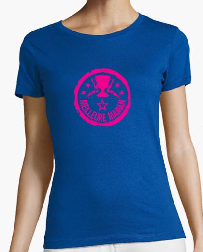 Tee-shirt meilleure maman trophée logo