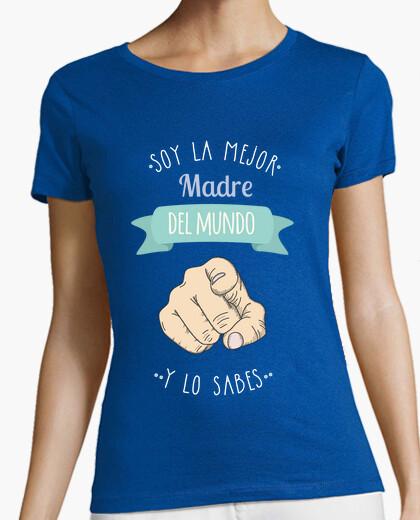Camiseta Mejor Madre Del Mundo (y lo sabes) Fondo Oscuro