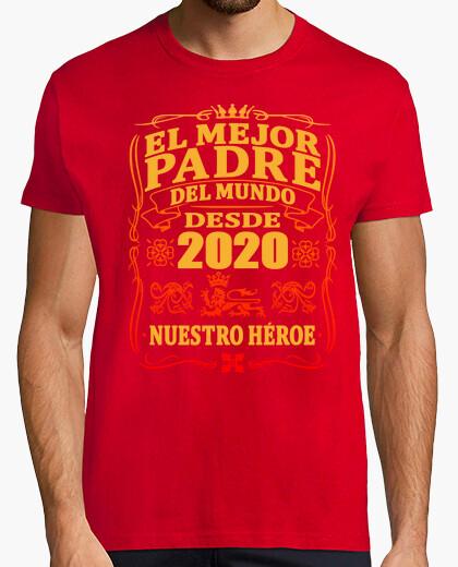 Camiseta Mejor padre del mundo desde 2020