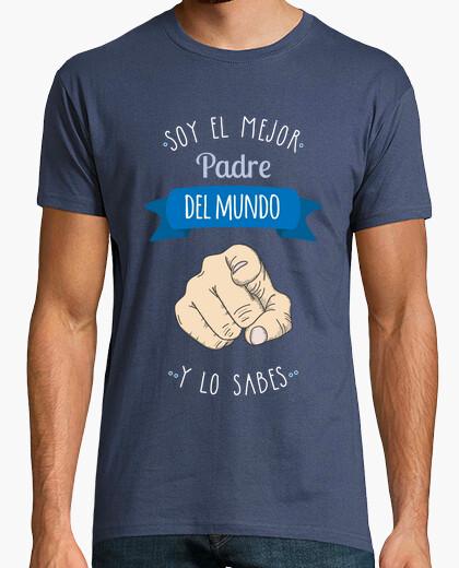 Camiseta Mejor Padre Del Mundo (y lo sabes) Fondo Oscuro