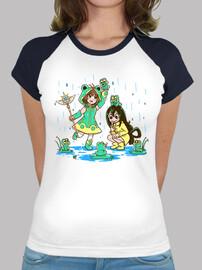 mejores chicas de rana - camisa de béisbol de mujer