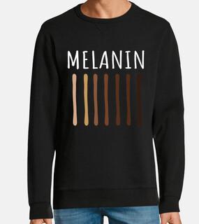 melanina sombra mujer hombre albino o a
