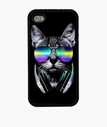 Coque iPhone mélomane chat