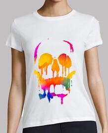 Melted color skull
