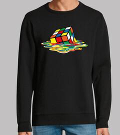 melted rubik cube