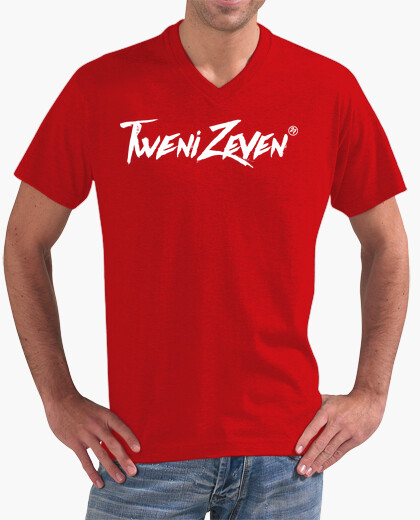 Men,  short sleeve, V-neck, red t-shirt