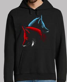 Men, hoodie, black