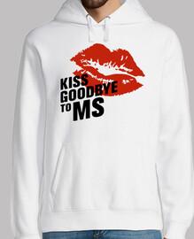 Men, hoodie, white