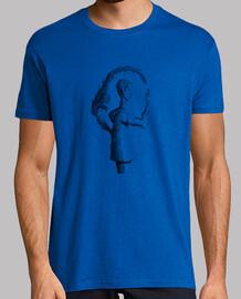Men, short sleeve, royal blue, high quality