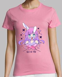 menhera girl anime pilules lapin t-shirt gothique pastel malade