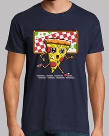 mens camicia da corsa pizza