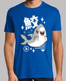 mens camicia kawaii squalo
