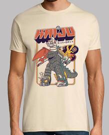 mens camicia robot super kaiju