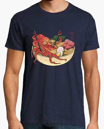 T-shirt mens camicia tako ramen