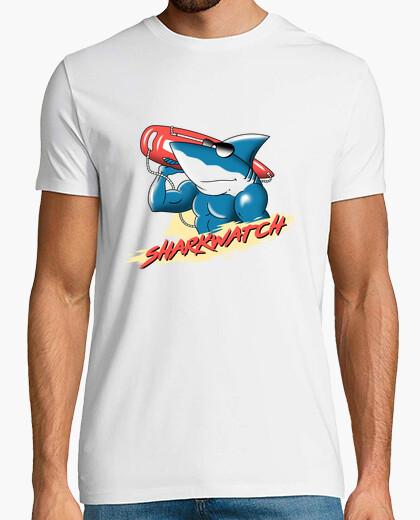 T-shirt mens della camicia della vigilanza dello squalo