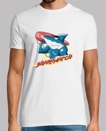 mens della camicia della vigilanza dello squalo