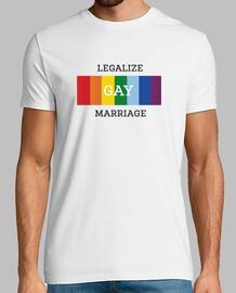 mens legalizzare il matrimonio gay t-shirt