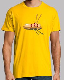 mens sushi camiseta