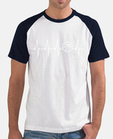 Men's t-shirt, short sleeve, baseball style