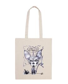 Meow - Bolsa tela 100 algodón