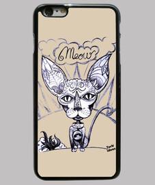 meow - iphone 6 plus black case