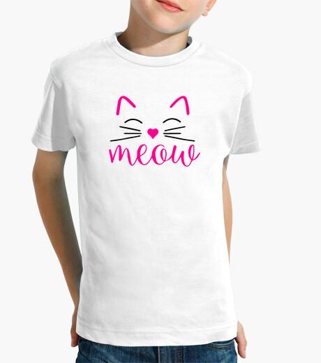 Ropa infantil Meow. Camiseta Divertida de Gatos