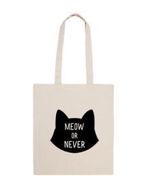Meow or never, ahora o nunca Logo