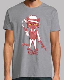 meowsee gato de la mafia - camisa para hombre