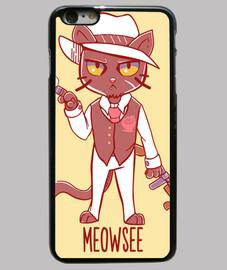meowsee mafioso cat - cassa del telefono