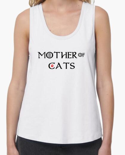 Tee-shirt mère de chats bretelles