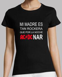 mère rocker fille t-shirt